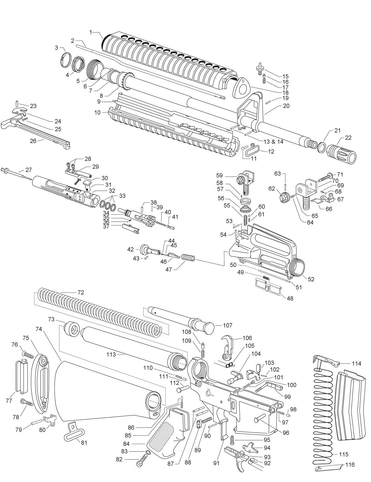 spare parts  ar-15
