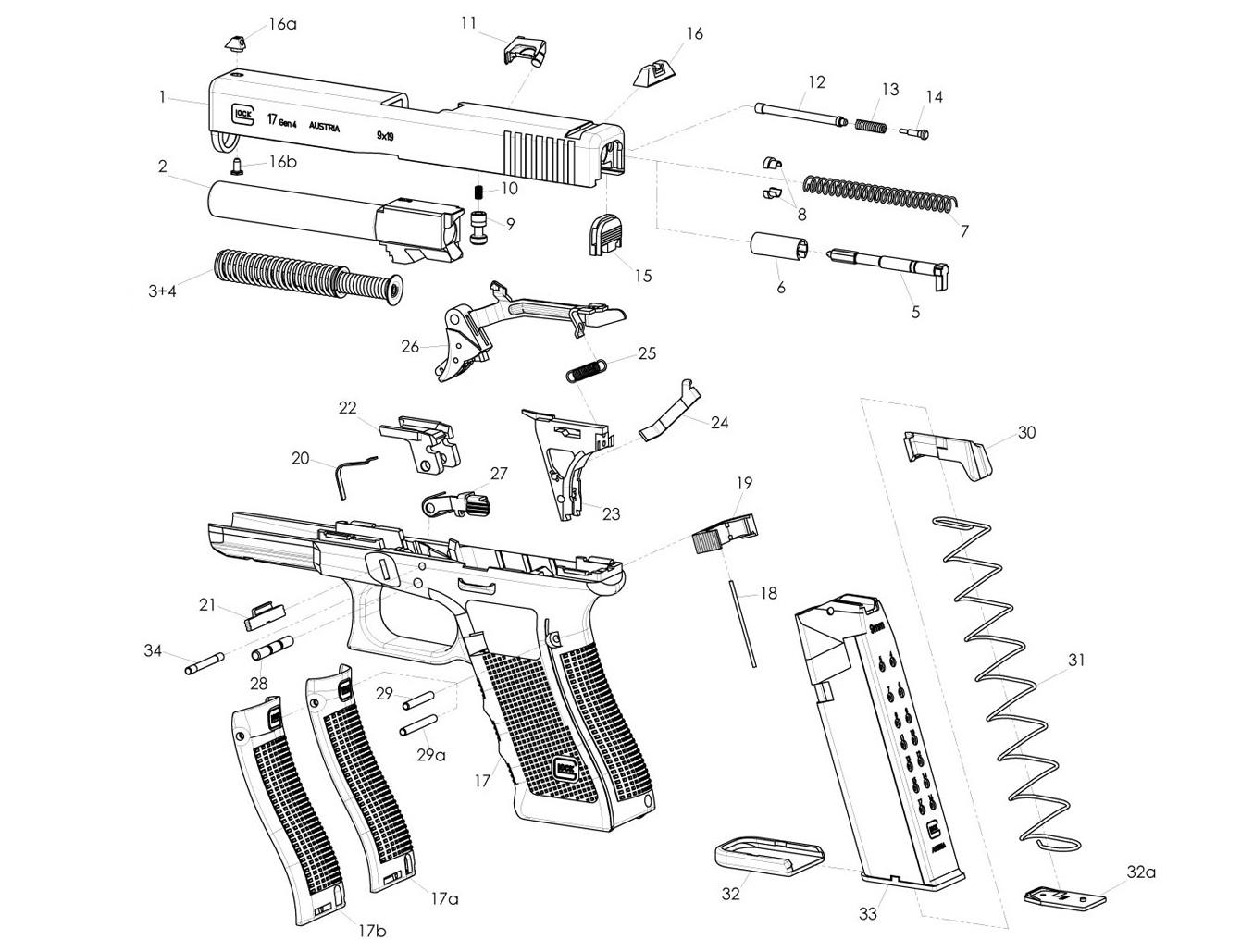 40 Glock Schematic Diagram - Wiring Diagram Name on handgun schematics and how it works, revolver schematics diagrams, shotgun schematics or diagrams,