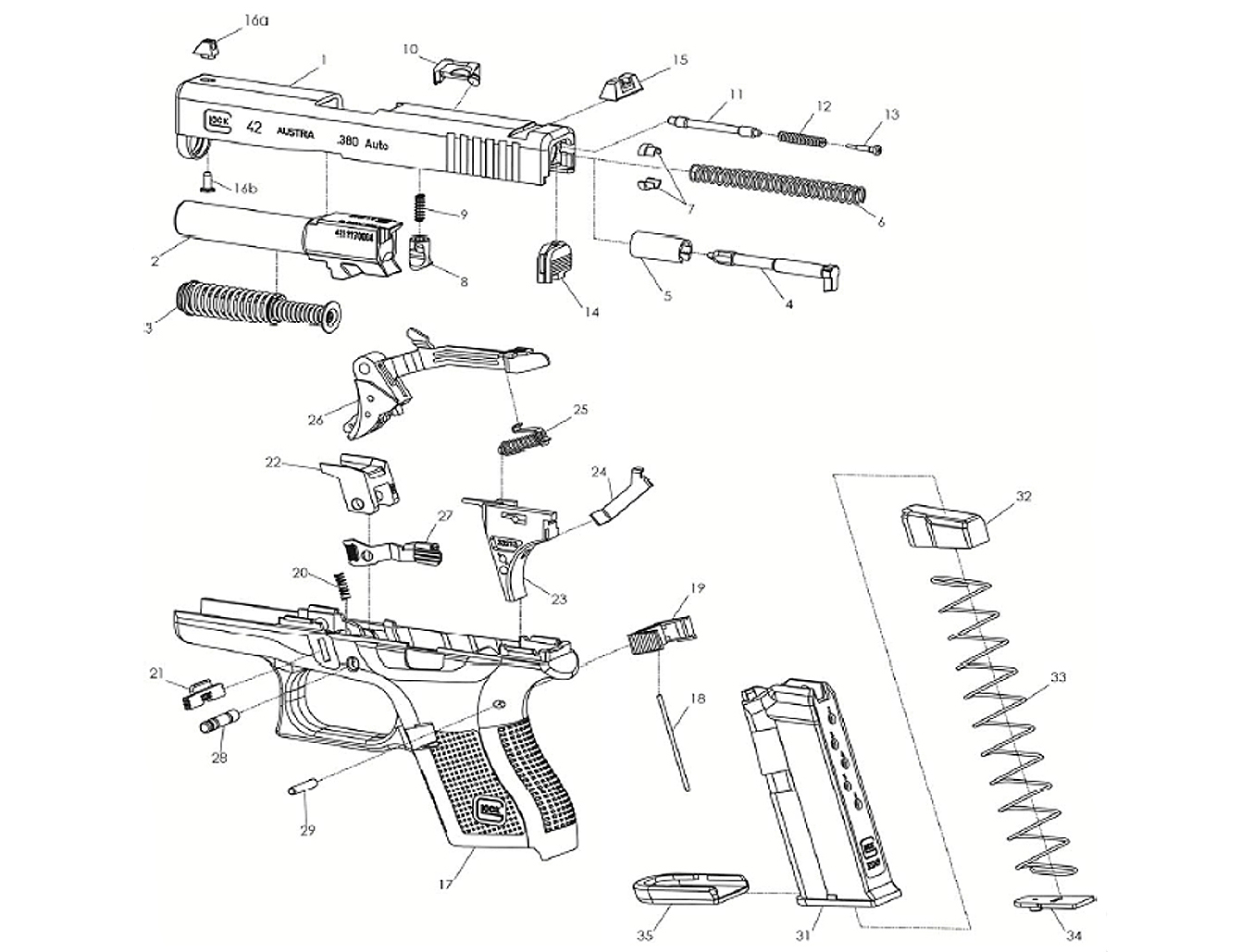 42 glock assembly diagram