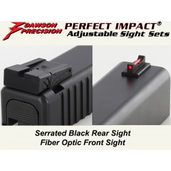 Dawson Fiber / Black Adjustable Set (Glock)