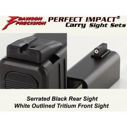 Dawson Black / Tritium Carry Set (Slimline)
