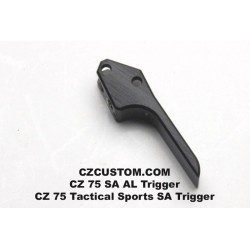Single action trigger, flat aluminium, adjustable