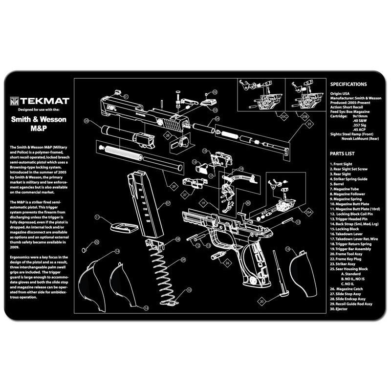 Tekmat Cleaning Mat Other Handguns Jizni Cz Accessories