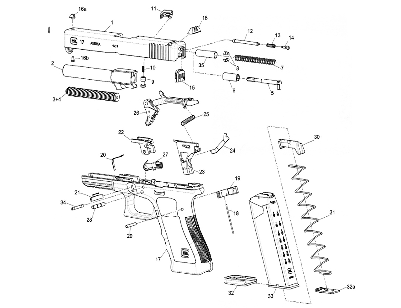 glock recommended spare parts